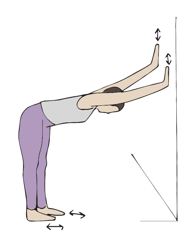 wall-push yoga