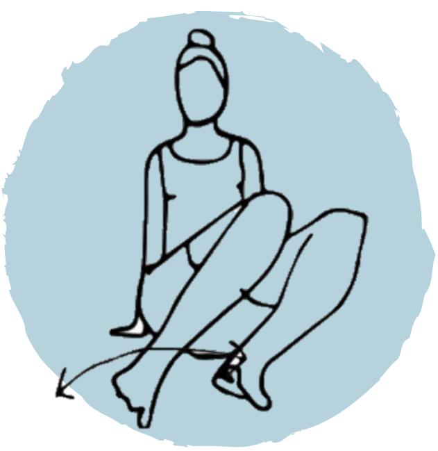 genoux alternés