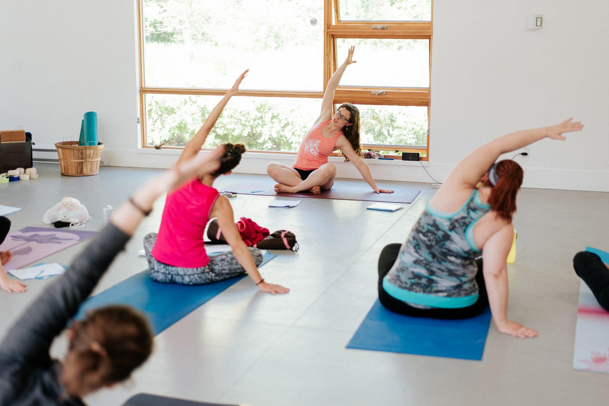 Yoga dans les Laurentides.