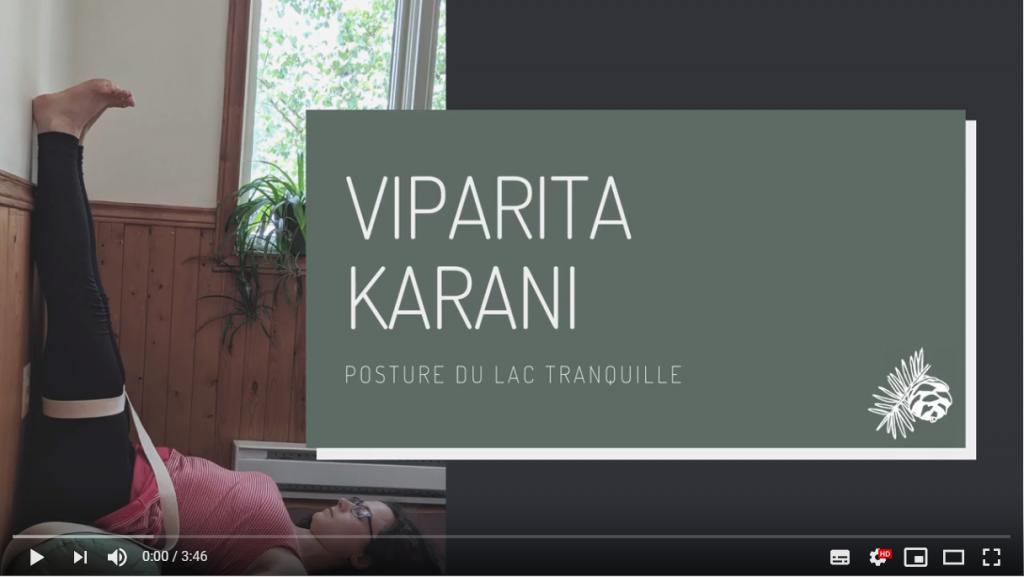 Viparita Karani Lac tranquille